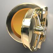 Gold safe vault — Stock Photo