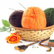 Stock Photo: woolen yarn