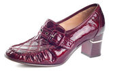 One wine red shoe — Stock Photo