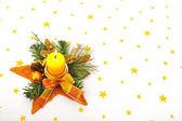 Christmas candle — Stock Photo