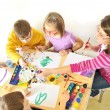 Kids painting — Stock Photo #4057182