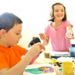 Kids painting — Stock Photo