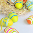 Painted Colorful Easter Eggs - Stock Photo
