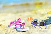 Children's beach accessories — Stock Photo