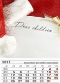 2011 年 12 月カレンダー — ストック写真