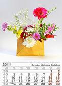 2011 october calendar — Photo
