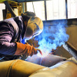 Welding with mig mag method — Stock Photo #4323184