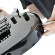 Unplugged guitar jack — Stock Photo #4448047