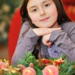 Girl at Christmas time — Stock Photo
