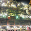 Steel plant at night - Stock Photo