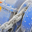 Frozen Winch Gear - Stock Photo