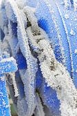 Frozen Winch Gear — Stock Photo