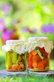Autumn preserves — Stock Photo