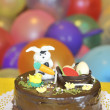 Stok fotoğraf: Easter cake decorated