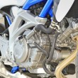 Motorcycle engine close-up — Stock Photo