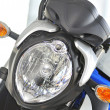 Stock Photo: Motorcycle front headlights