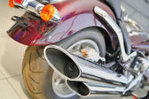 A rear view of a motorcycle — Stock Photo