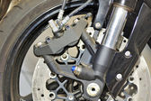 Motorcycle close up — Stock Photo