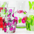 Handmade vase painted - Stock Photo