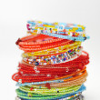 Many colorful fashion bracelets - Stock Photo