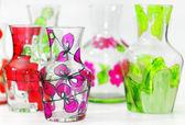 Vaso artesanal pintado — Foto Stock