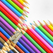 Abstract Color pencils — Stock Photo