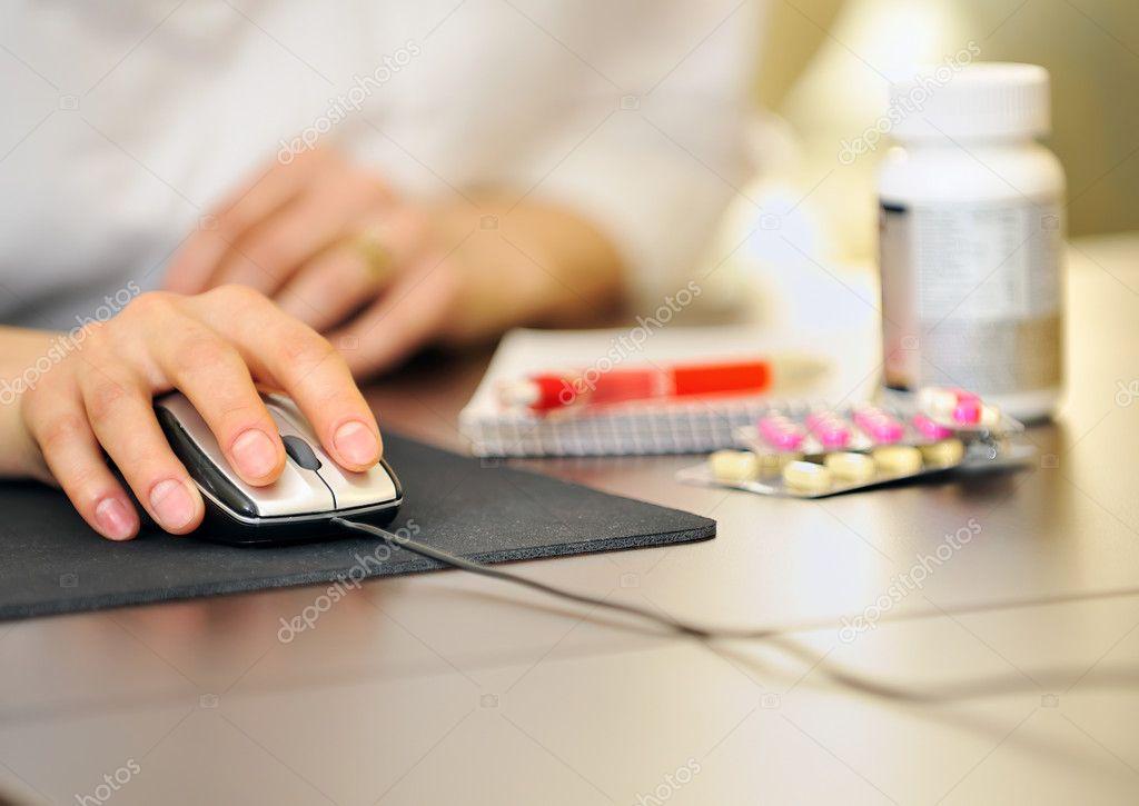 Doctor prescription online medicine — Stock Photo © jordache #4940520