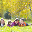 Stock Photo: Kids in autumn park