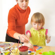 Stock Photo: Activity in preschool
