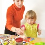 Activity in preschool — Stock Photo