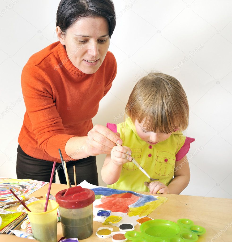 Activity in preschool  Stock Photo #5030469