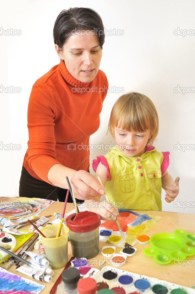 Activity in preschool   Foto Stock #5030473