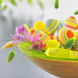 Basket with easter eggs — Stock Photo #5198201