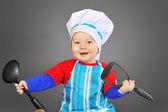 Küçük şef pişirici — Stok fotoğraf