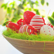 Basket with easter eggs — Stock Photo #5263032