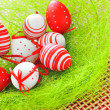 Basket with easter eggs — Stock Photo #5263036