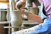 Making of a ceramic vase — Stock Photo