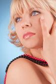 Closeup portrait young beauty woman — Stock Photo