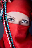 Arabische frau closeup portrait — Stockfoto
