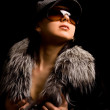 Woman with hat — Stock Photo #4511823