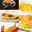 Breakfast collage — Stock Photo #4624994