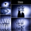 Glass collage - Stock Photo