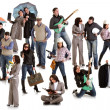 Photo of group doing different things — Stock Photo