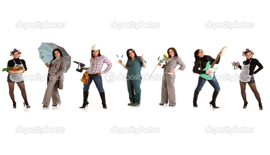 Photo of different womans doing something — Stock Photo #4625090