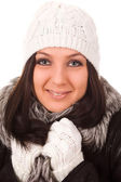 Female with winter clothes — Stock Photo