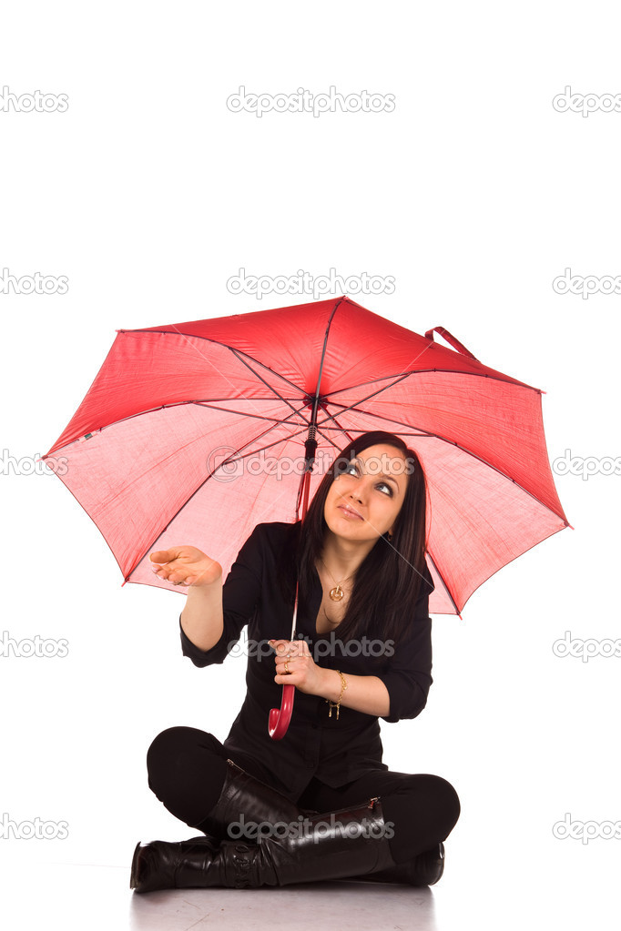Woman with umbrella — Stock Photo #4699393