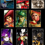 collage de Venecia — Foto de Stock