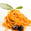 Royalty-Free Stock Photo: Spaghetti with olives and tomatoe sause - Pasta alla Puttanesca