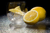 Lemon on Ice - Cocktail Dessert — Stock Photo