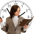 Woman under Time Pressure — Stockfoto